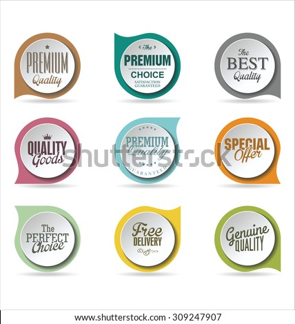 Badges collection 3 - stock vector