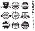 Badges Collection 01 - vector logos template. - stock vector