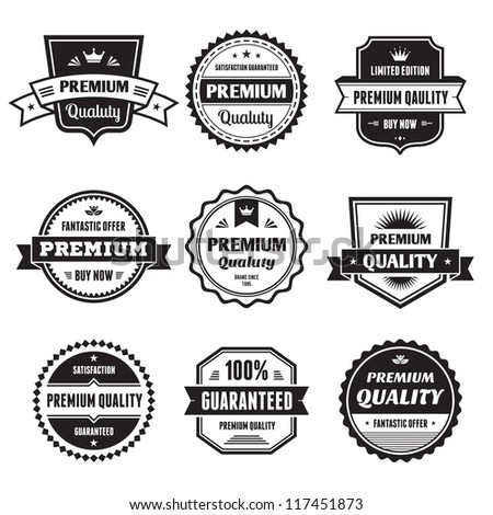 Badges Collection 01 - vector logos template. - stock vector