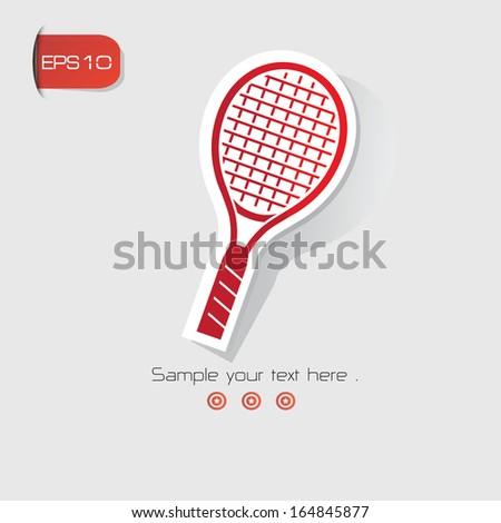 Badminton symbol,Red version,vector - stock vector