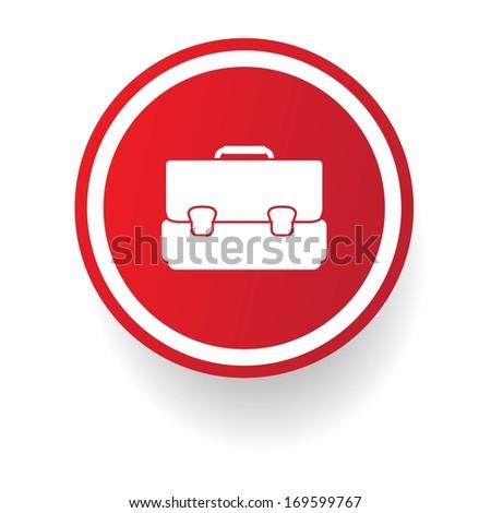 Bag button, vector - stock vector