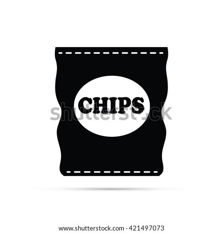 Bag of Potato Chips Icon - stock vector