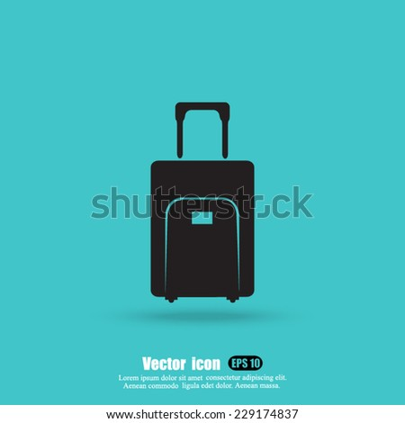 bag vector icon - stock vector