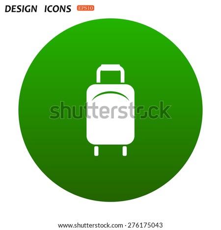 Baggage icon. icon. vector design - stock vector