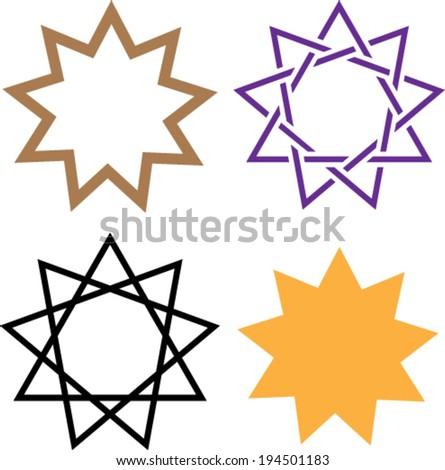 Bahai Symbol Religion - stock vector