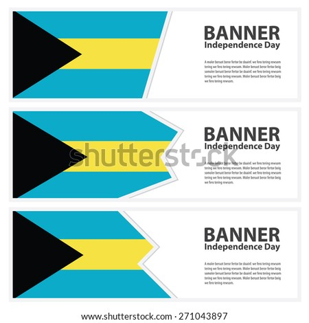 bahamas  Flag banners collection independence day - stock vector