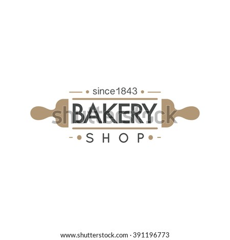 Bakery badge and bread logo badge icon modern style vector. Retro bakery label logo and bakery bread badge icon. Bakery badge design element isolated on white background - stock vector