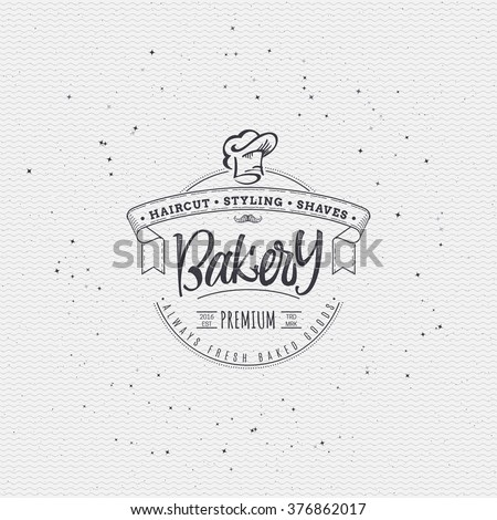 Bakery. Handwritten inscription. Hand drawn calligraphy lettering  typography badge. It can be used for signage, logos, branding, product launches - stock vector