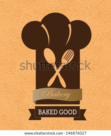 bakery label over vintage  background vector illustration - stock vector