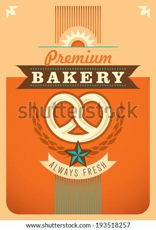 Bakery poster design. Vector illustration. - stock vector