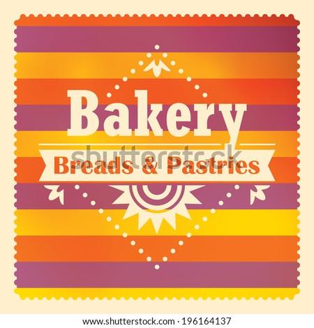 Bakery sticker design in color. Vector illustration. - stock vector