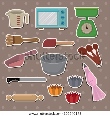 baking stickers - stock vector