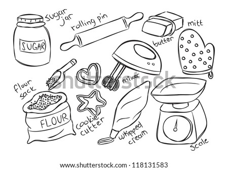 baking stuff - stock vector