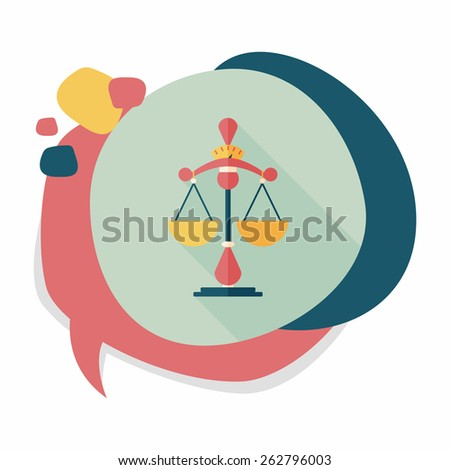 Balance flat icon with long shadow,eps10 - stock vector