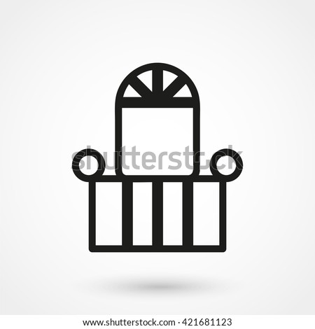 Stock images similar to id 133078226 silhouette 10 26 for Balcony vector