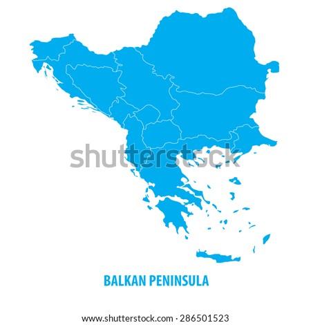 Balkan Map - stock vector