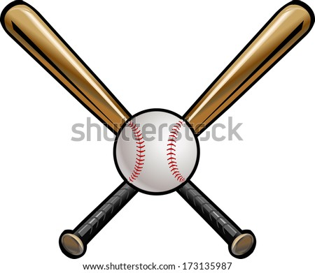 Baseball bat crossed insrenterprises pronofoot35fo Choice Image