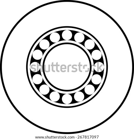 ball bearing symbol - stock vector