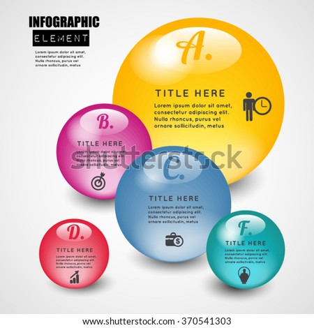 Ball 3d infographic element. - stock vector