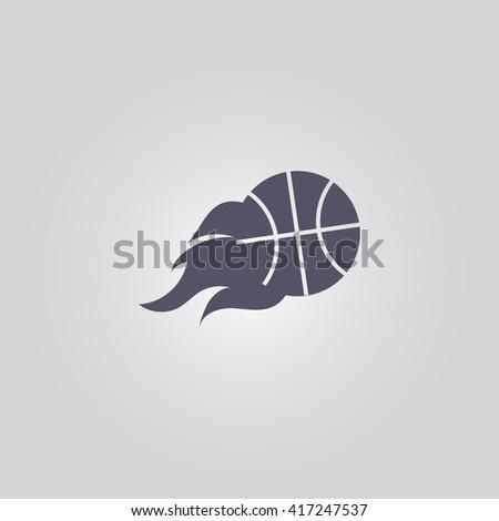 ball fire icon.ball fire sign.ball fire logo - stock vector