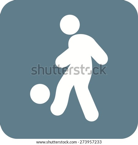 Ball, foot ball, soccer, player, sports icon vector image. Can also be used for fitness, recreation. Suitable for web apps, mobile apps and print media. - stock vector