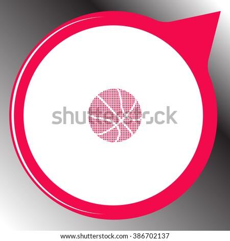 Ball for basketball icon. Ball for basketball vector. - stock vector