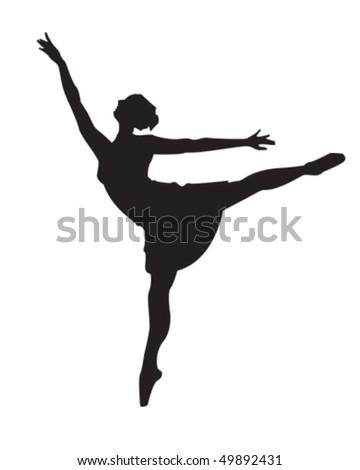 Ballerina - stock vector