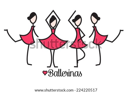ballerinas - stock vector