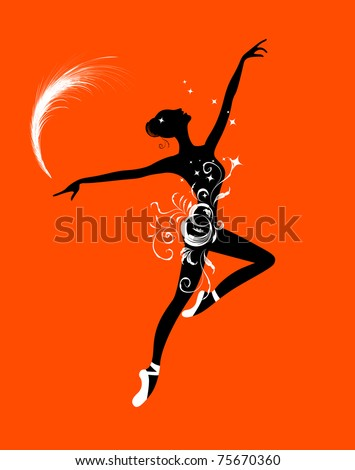 Ballet dancer for your design - stock vector