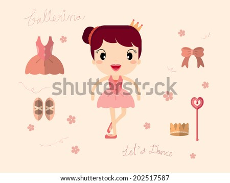 Ballet set - stock vector