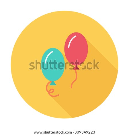 Ballon icon icon. Flat vector related icon with long shadow for web and mobile applications. It can be used as - logo, pictogram, icon, infographic element. Vector Illustration. - stock vector