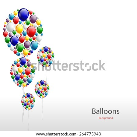 balloon background - stock vector