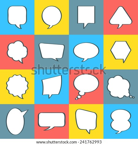 Balloon message collection set vector for anything design - stock vector