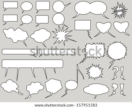 balloons collection. Vector Illustration - stock vector
