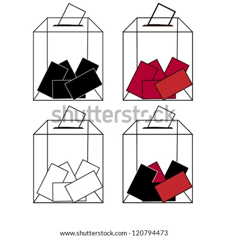 Ballot box - stock vector