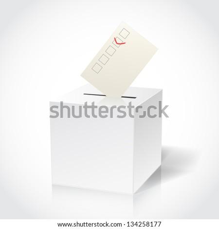 ballot box on white - stock vector