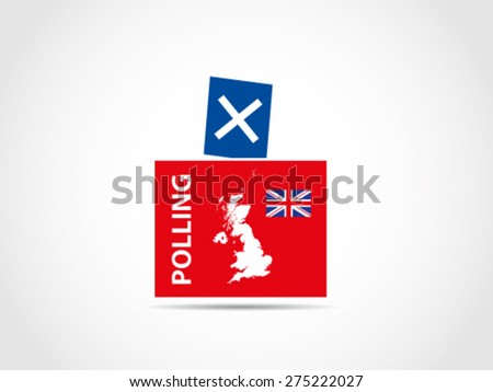 Ballot Box UK Britain Parliament Candidate Voting - stock vector