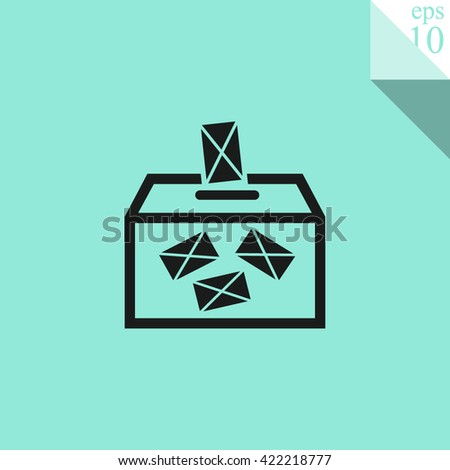 Ballot box vote Icon. Ballot box vote Icon Vector. Ballot box vote Icon Sign. Ballot box vote Icon Picture. Ballot box vote Icon Image. Ballot box vote Icon Illustration. Ballot box vote Icon JPEG. - stock vector
