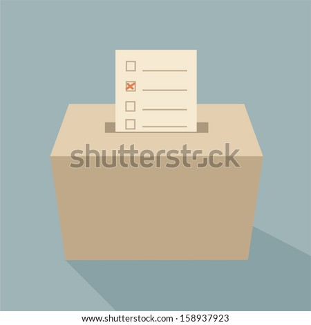 ballot box vote,vector - stock vector