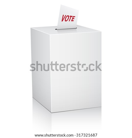 Ballot box with Ballot paper. Vector Illustration - stock vector