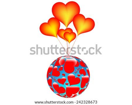 Balls Of Love.Vector - stock vector
