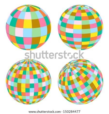 Balls set retro vector background concept - stock vector