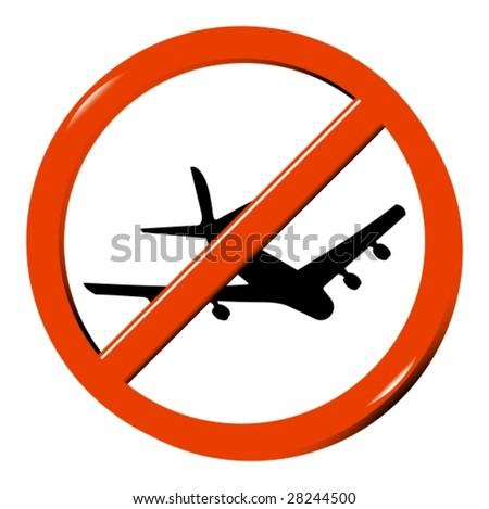 ban on flying - stock vector
