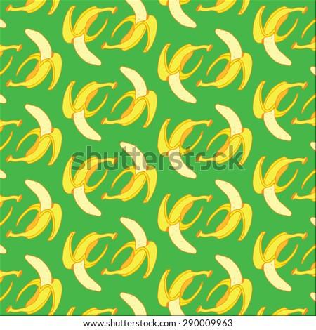Banana Summer Pattern - stock vector