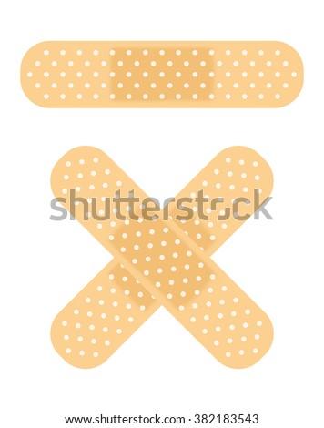 bandage - stock vector
