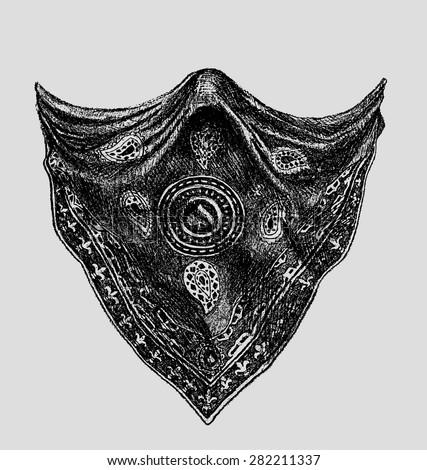bandana or scarf as element design - stock vector