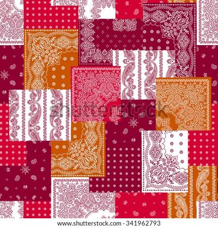 Bandanna pattern design - stock vector