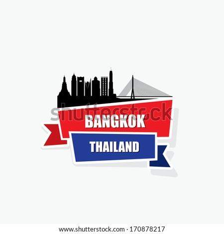 Bangkok ribbon banner - vector illustration - stock vector