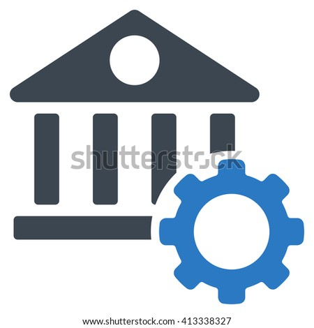 Bank Options vector icon. Style is bicolor flat icon symbol, smooth blue colors, white background. - stock vector