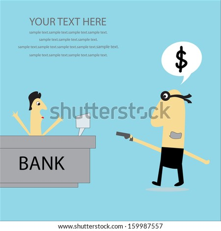 Bank robber. - stock vector
